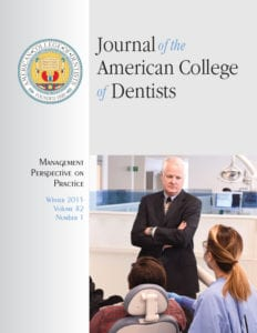 OMSP Publications Journal of the American College of Dentists